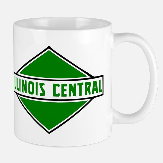 Illinois Central Railroad logo Mugs