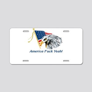 americafuckyeahblk Aluminum License Plate