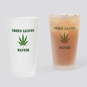 Green Leaves Matter Drinking Glass