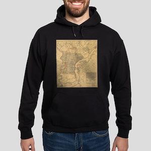 Vintage Map of Philadelphia Pennsylv Hoodie (dark)