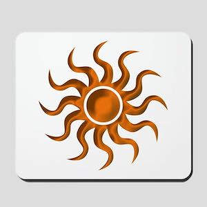 Orange Starburst Mousepad