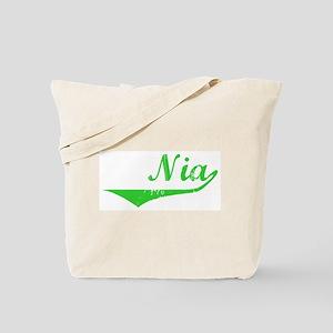 Nia Vintage (Green) Tote Bag