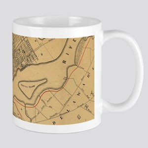 Vintage Map of Philadelphia Pennsylvania (185 Mugs
