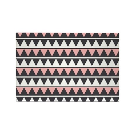 Pink Zigzag Rectangle Magnet (10 pack)