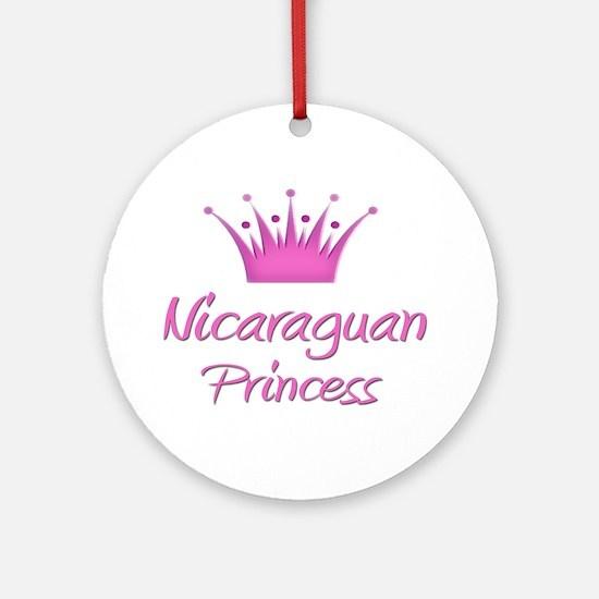 Nicaraguan Princess Ornament (Round)