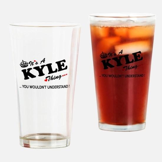 Unique Kyle Drinking Glass