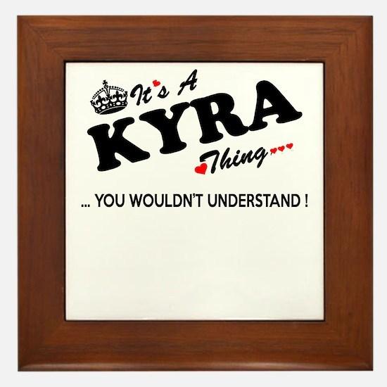 Unique Kyra Framed Tile
