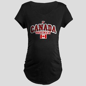CA(CAN) Canada Hockey Maternity Dark T-Shirt