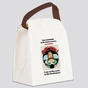 Bookaholic on road to recovery Canvas Lunch Bag