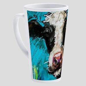 Cow Painting 17 oz Latte Mug