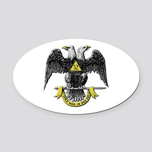 32nd Degree Mason Oval Car Magnet
