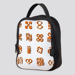 Distressed Adinkra Symbols Neoprene Lunch Bag