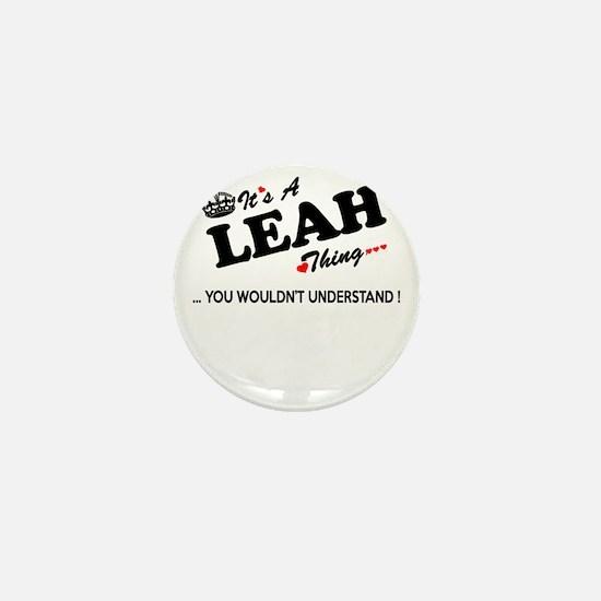 Cute Leah Mini Button