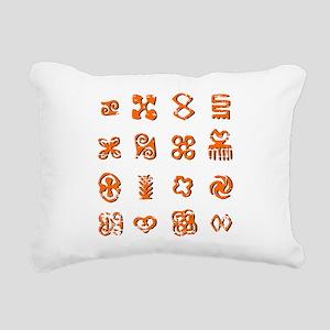 Distressed Adinkra Symbo Rectangular Canvas Pillow