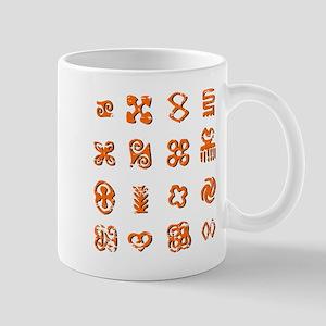 Distressed Adinkra Symbols Mugs