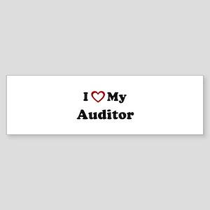 I Love My Auditor Bumper Sticker