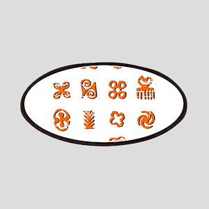 Distressed Adinkra Symbols Patch