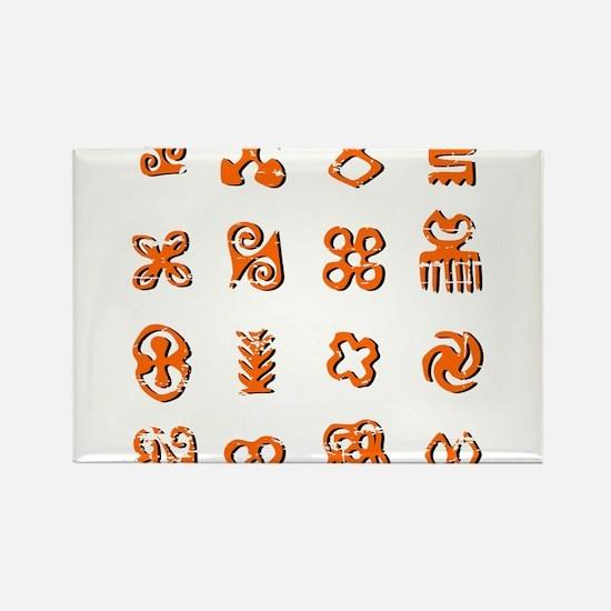 Distressed Adinkra Symbols Magnets
