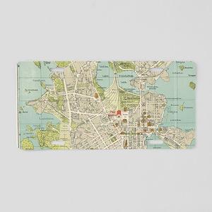 Vintage Map of Helsinki Fin Aluminum License Plate