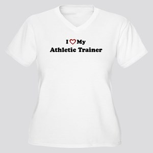 I Love My Athletic Trainer Women's Plus Size V-Nec