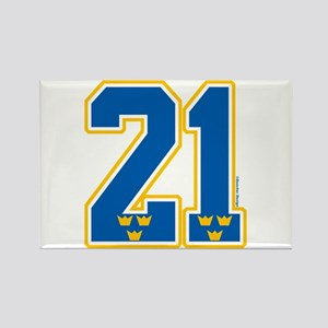SE Sweden(Sverige) Hockey 21 Rectangle Magnet