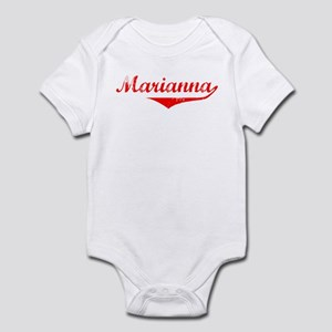 Marianna Vintage (Red) Infant Bodysuit