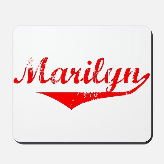 Marilyn Vintage (Red) Mousepad