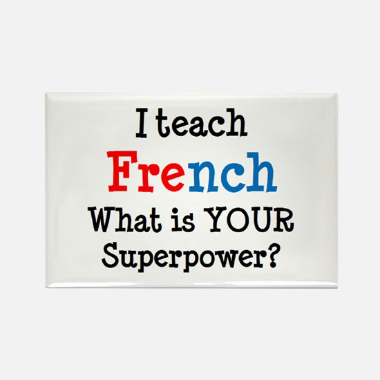 teach french Rectangle Magnet