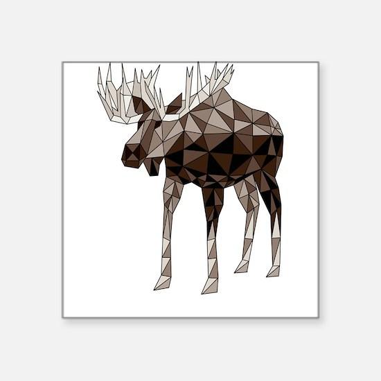 Geometric Moose Sticker