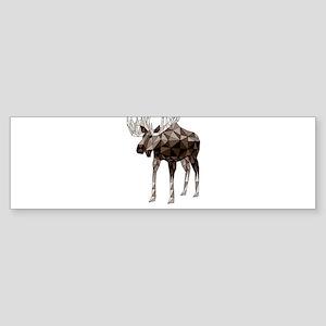 Geometric Moose Bumper Sticker