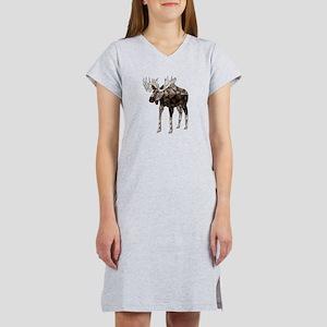 Geometric Moose Women's Nightshirt