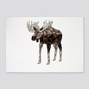 Geometric Moose 5'x7'Area Rug