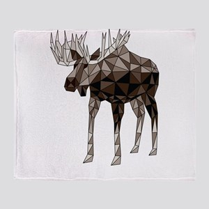 Geometric Moose Throw Blanket