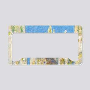 Rouen Cathedral Sunlight by Monet License Plate Ho