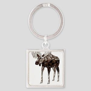 Geometric Moose Keychains