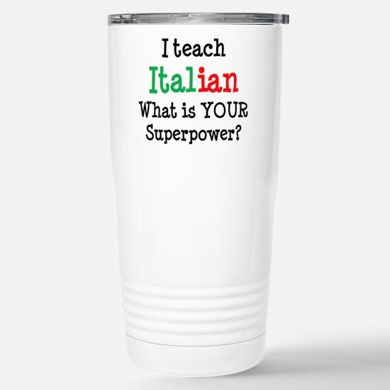 teach italian Stainless Steel Travel Mug