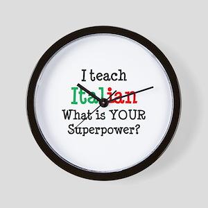 teach italian Wall Clock