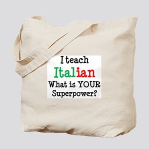 teach italian Tote Bag