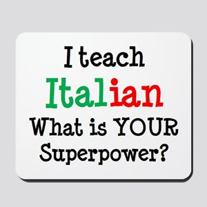 teach italian Mousepad