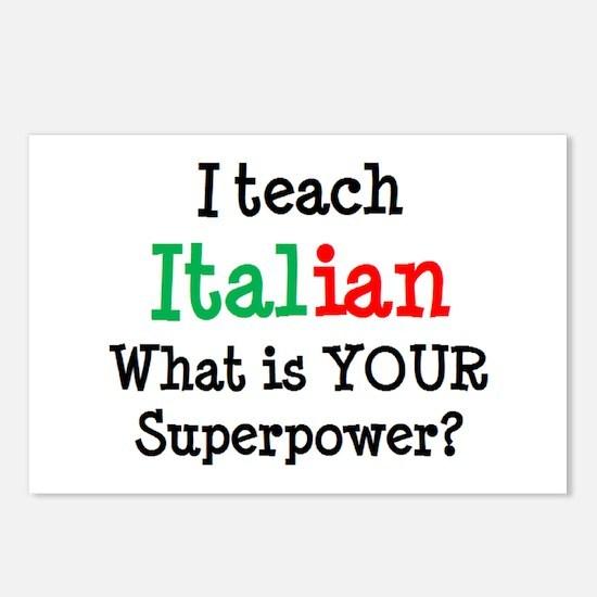 teach italian Postcards (Package of 8)