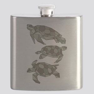 Geometric Turtle Flask