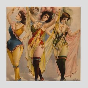 1899 Pinups Tile Coaster