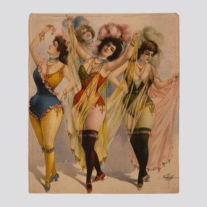 1899 Pinups Throw Blanket