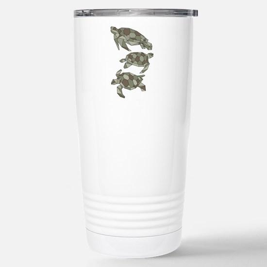 Geometric Turtle Stainless Steel Travel Mug
