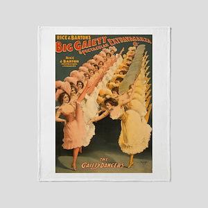 Gaiety Dancers Throw Blanket