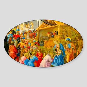 The Adoration of the Magi Nativity Scene Sticker