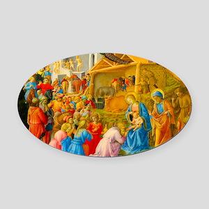 The Adoration of the Magi Nativity Scene Oval Car