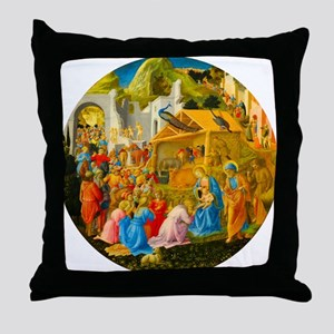 The Adoration of the Magi Nativity Scene Throw Pil