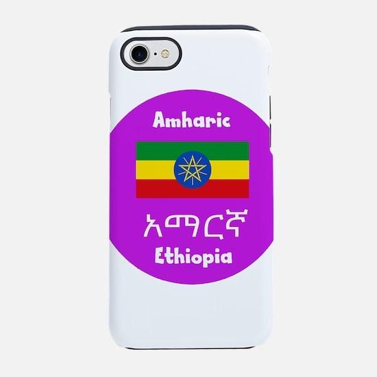 Amharic Language And Ethiopi iPhone 8/7 Tough Case