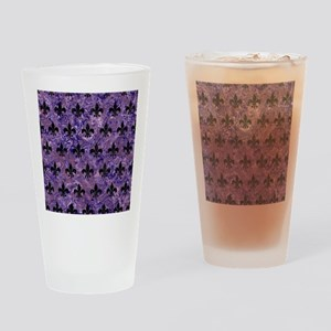 ROYAL1 BLACK MARBLE & PURPLE MARBLE Drinking Glass